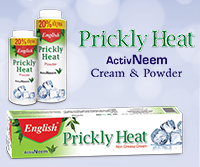 English Prickly Heat Active Neem Cream & Powder